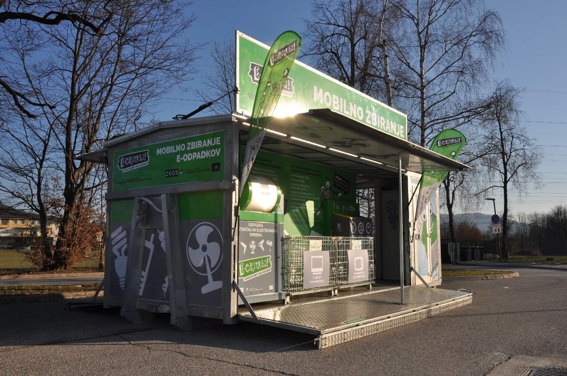 na priložnostna zbirna mesta v času akcij zbiranja z mobilnim zbiralnikom (skupaj z izvajalci gospodarske javne službe za ravnanje z odpadki).